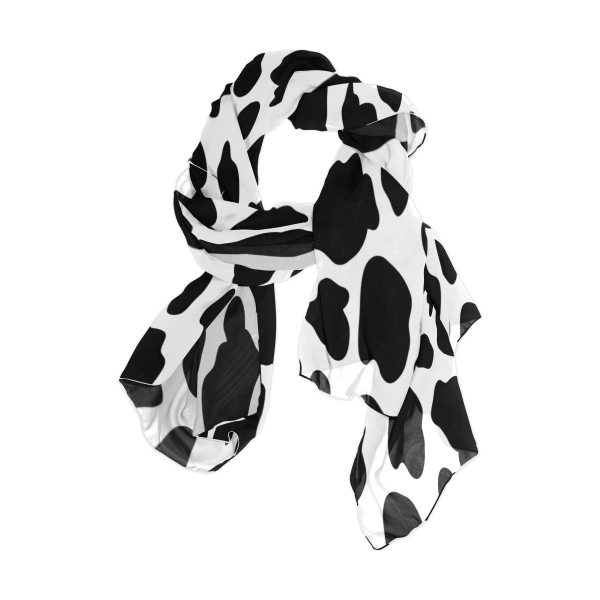 Use4 Fashion Animal Cow Print Chiffon Long Scarf Shawl Wrap