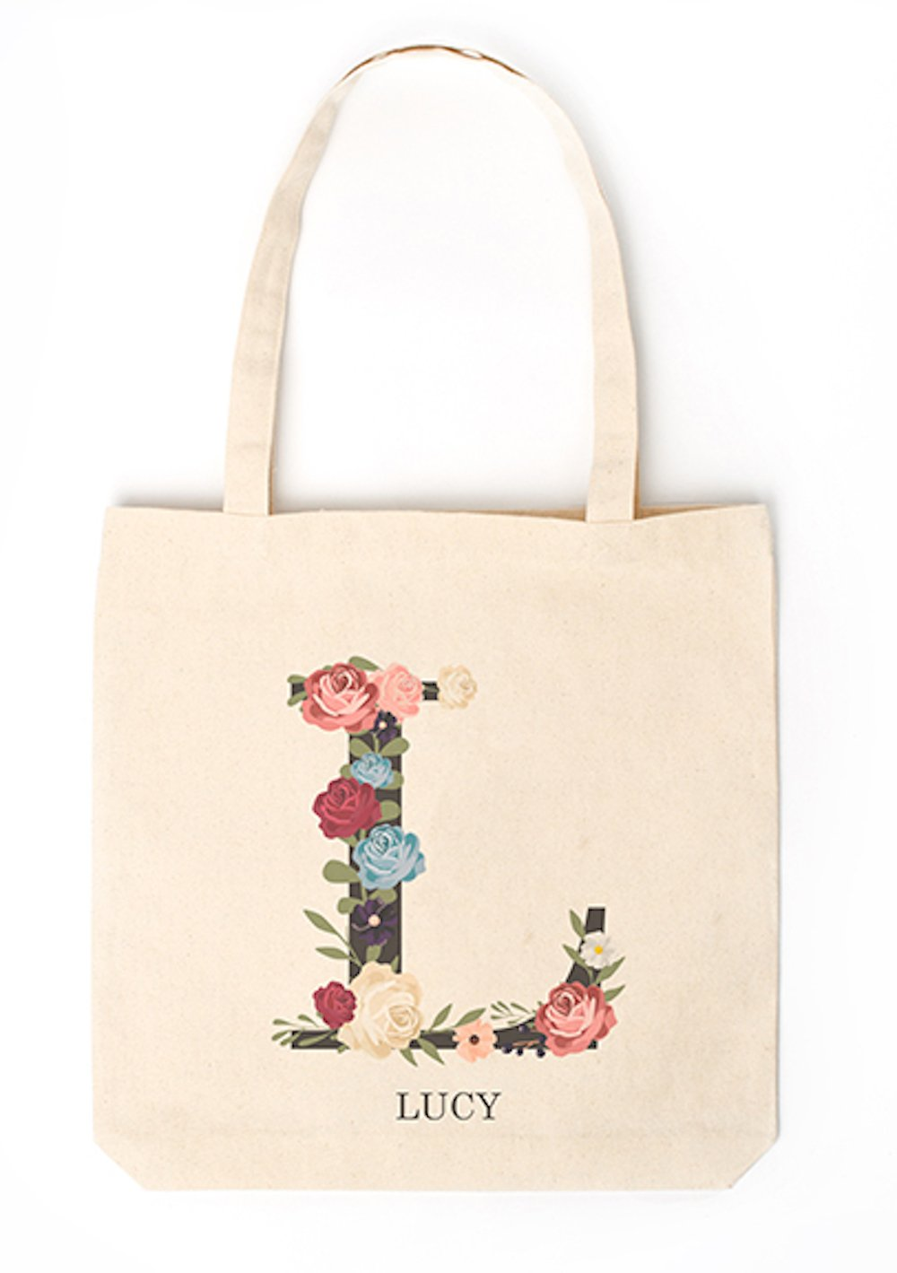 Personalized Monogram Tote - Unique Monogrammed Tote Bags Gifts for Women, Also a Gift for Mom (Letter L)