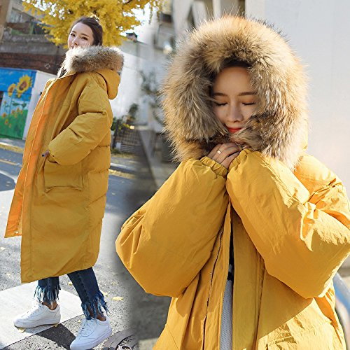 1011 Knee Feather Xuanku Jacket Clothing Army Winter Green Cotton True A Cotton Loose With A Bread Coat Women'S And rnq0pUBIxq