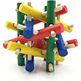 GAOXIONGPT Nut Knot Knibbler Wooden Chew Toy for Small Animals - 3.5X3.5X3.5 IN Hamster Toys