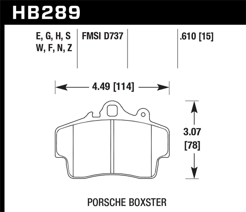 HB685Z.610 Hawk Performance Ceramic Disc Brake Pads