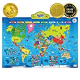 kids world map - BEST LEARNING i-Poster My World Interactive Map - Educational Talking Toy for Kids