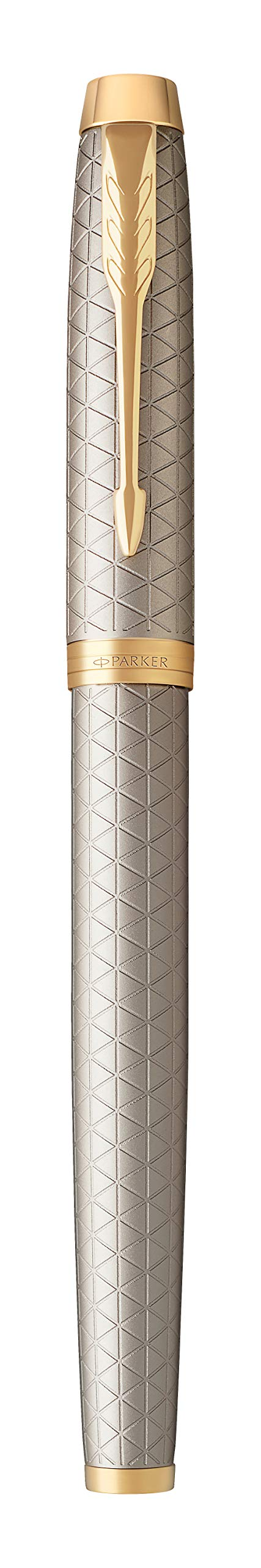PARKER IM Rollerball Pen, Premium Warm Silver with Fine Point Black Ink Refill (1931686) by Parker (Image #5)