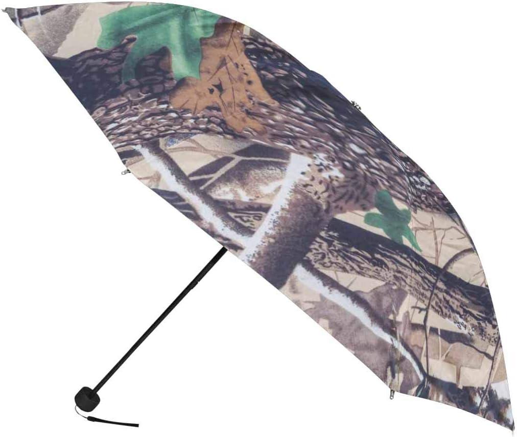 InterestPrint Custom Military Badges Camouflage Anti Sun UV Foldable Travel Compact Umbrella