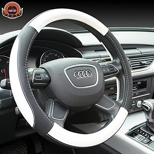 CALAP-STORE - New sport luxury car steering wheel cover Seansons Environmental Non-slip breathable car steering wheel cover leather