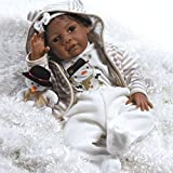 Paradise Galleries Reborn African American Black Baby Doll Kione, 20 inch Girl in Soft Vinyl & Weighted Body, 8-Piece Set