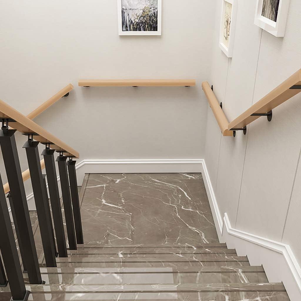 Pasamanos Escalera 30cm-600cm barandilla de madera, Barra de soporte de barandas de escalera antideslizante, Kit de barra de agarre para montaje en pared para ancianos para guardería/exterior/villa/lo: Amazon.es: Hogar