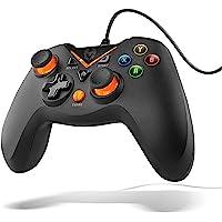 KROM KEY - Gamepad alámbrico, modos de juego X-input y Direct - input, joystick y gatillos analogicos, funcion turbo de…