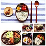Ieasycan Rectangular Lunch Box Japanese Eco-friendly Wooden Bento Boxes Sushi Box for Kids Gril Boy Adult At School Work
