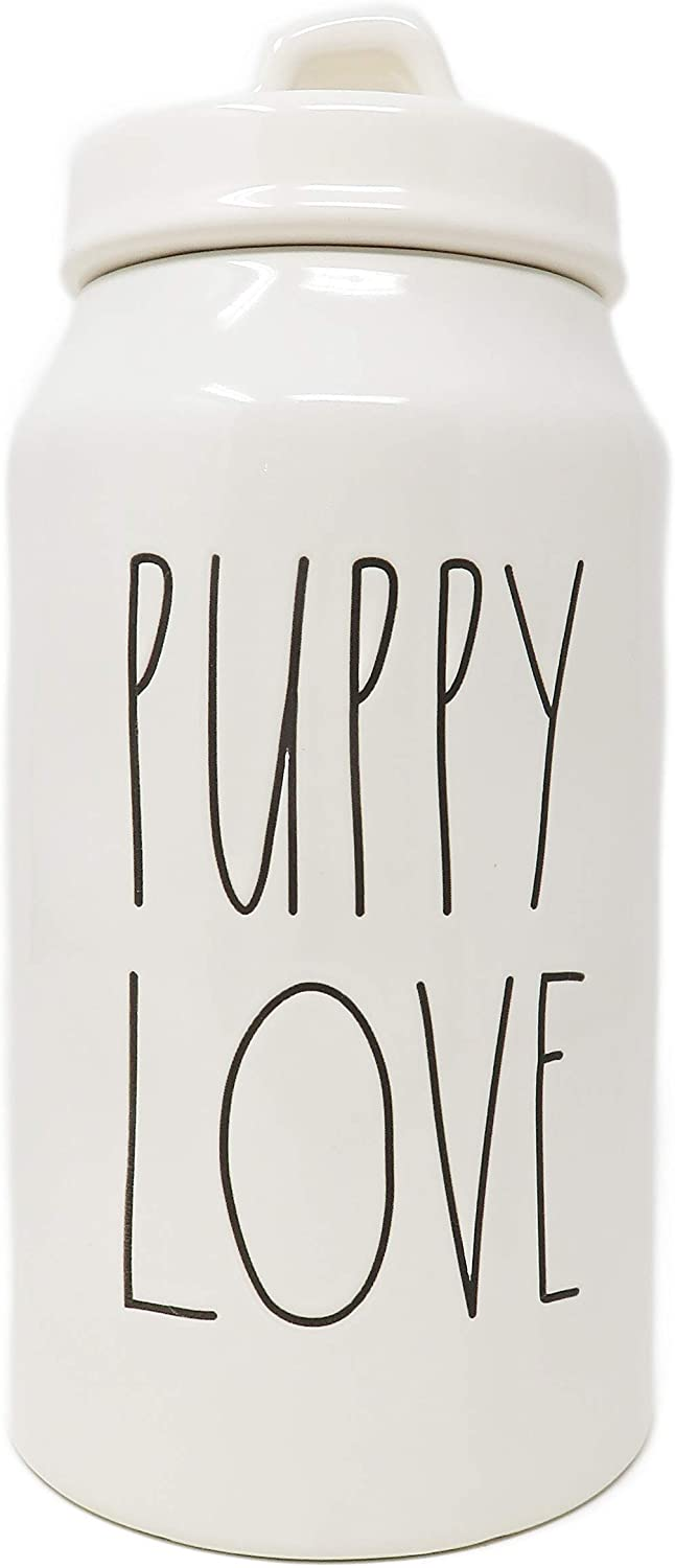 Rae Dunn by Magenta Puppy Love Ceramic LL Pet Dog Canister