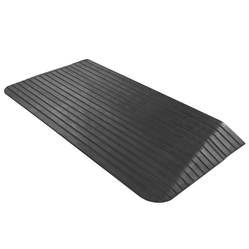 Silver Spring 2.5'' Solid Rubber Power Wheelchair Threshold Ramp