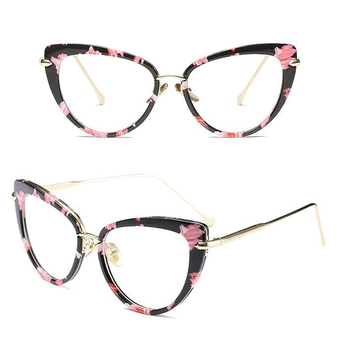 BOZEVON Damen Übergröße Rechteckig Mode Retro Brillen Klassische Sonnenbrille , Rosa