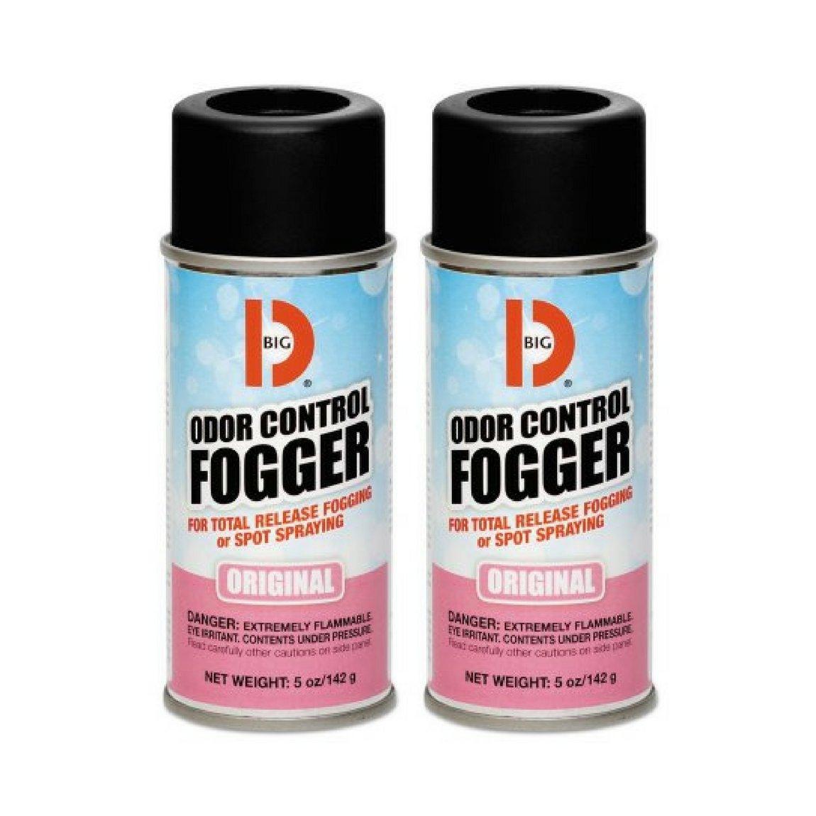 Big D 341 Odor Control Fogger, Original Fragrance, 5 oz (Pack of 12) - Kills odors from fire, flood, decomposition, skunk, cigarettes,musty smells - Ideal for use in cars,management , hotels - 2 Packs