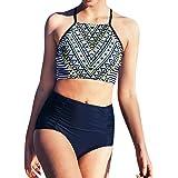 Sumen Teen Girls High Waist Swimsuit Summer Two Piece Bathing Suit Skinny Bikini Sets