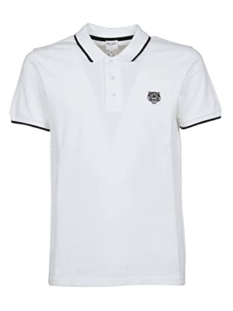 c7cd0a6c710 Kenzo Homme F755PO0014BA01 Blanc Coton Polo  Amazon.fr  Vêtements et ...