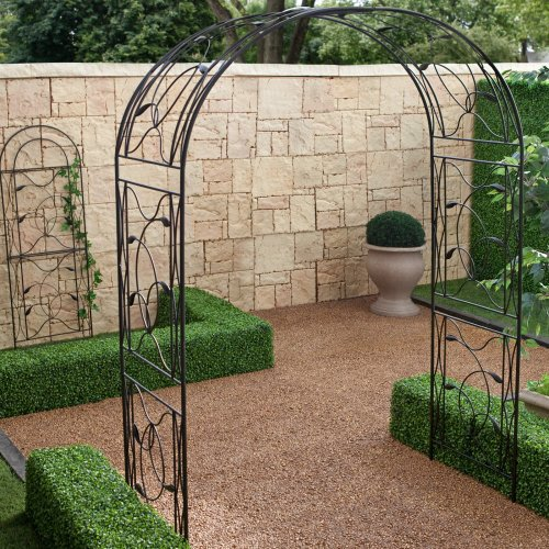 Coral Coast Coral Coast Willow Creek Metal Arbor - Black, Steel (Chi Rattan Wing Factory)