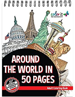 Amazon Adult Coloring Book Around The World With Color