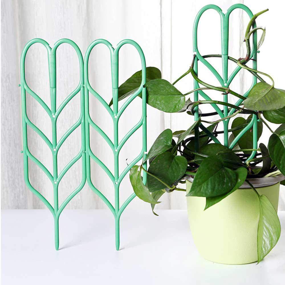 Geggur 8 PCS Mini Fai da Te Foglia Forma Giardino Traliccio Piante Grata vasi Supporti per Piante rampicanti in Vaso Viti Ivy cetrioli
