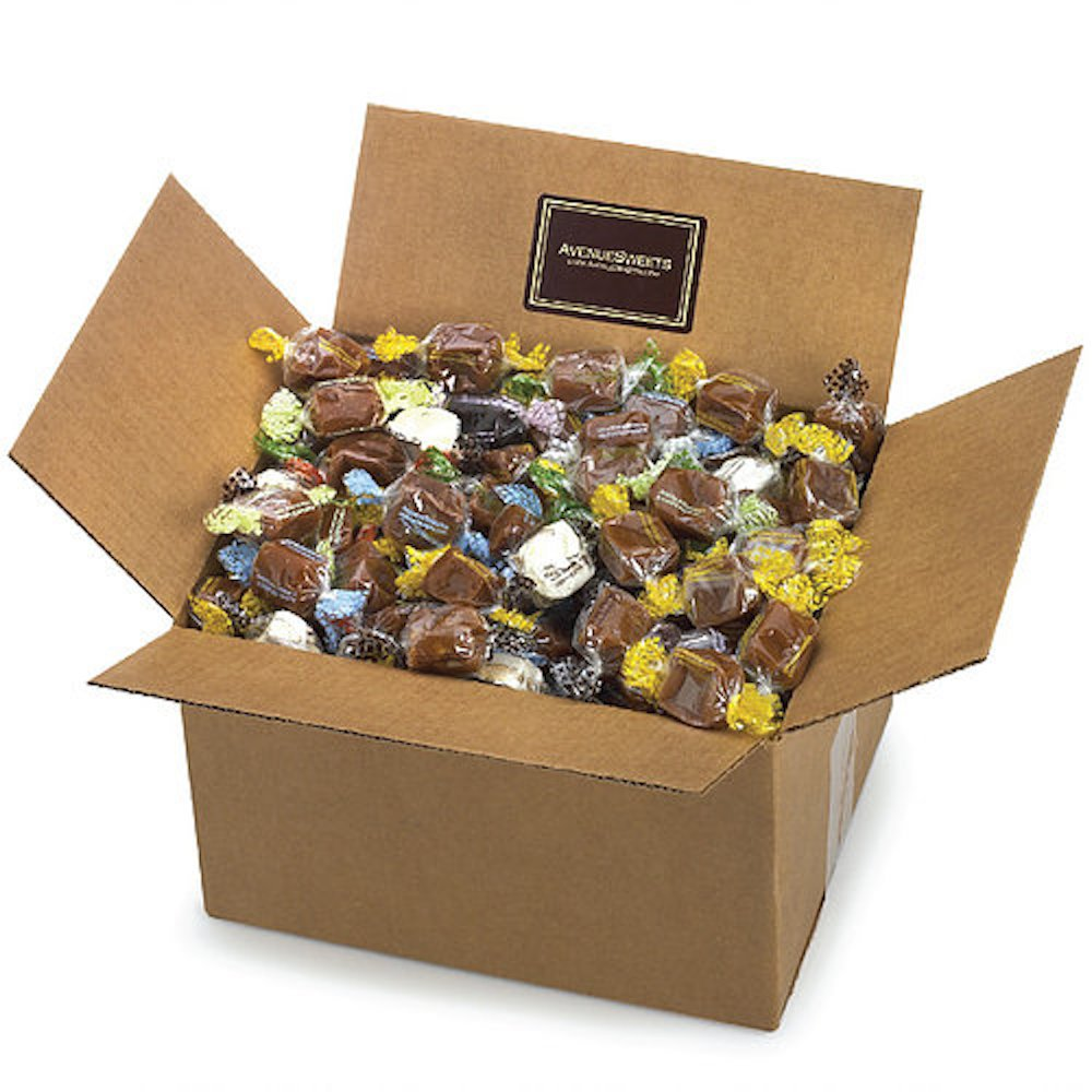 AvenueSweets - Handcrafted Individually Wrapped Soft Caramels - 5 lb Box - Customize Your Flavors by AvenueSweets