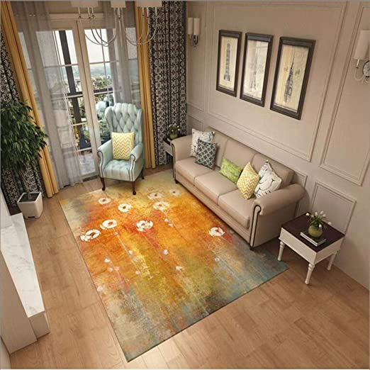 Rug Contemporary Extra Large Living Room Bedroom Area Rugs Golden Splendid Warm Rug Rugs 80x150cm Amazon Ca Home Kitchen
