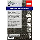 Sew Steady Quilting Template 6 Piece Template Set (Low & Medium Shank)