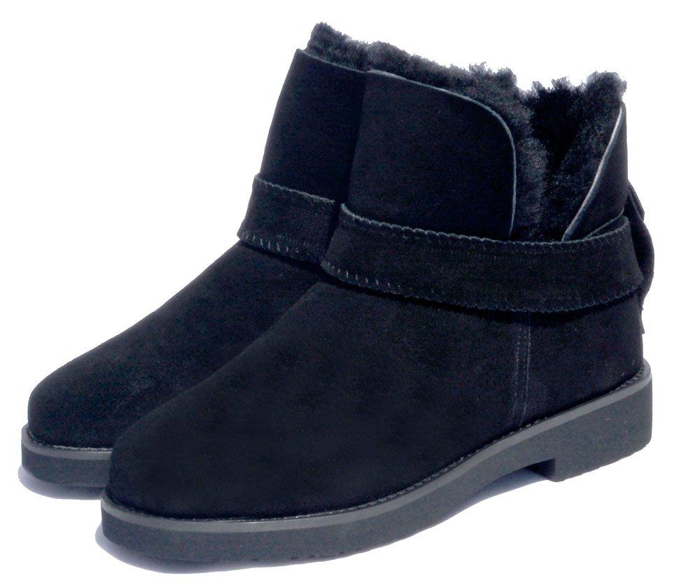 NINGUTA invierno ante tobillo botas mujer zapatos de mujer41 EU|Negro