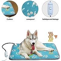 220V Pet Heating Mat,Indoor Waterproof Temperature Adjustable Warm Pet Heating Pad,Anti-bite Anti-Chewing Mat,Warmer Bed Blanket for Dog Cat