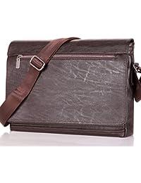 Men Laptop Computer Messenger bags Business Bag for Men Soft Leather Briefcase Shoulder Crossbody Bag SAJOSE