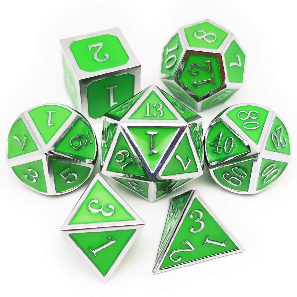 Haxtec Glow In The Dark Glowing Green Silver Metal Dice Set W Dragon Dice Bag D D For Dungeons And Dragons Rpg Games Glossy Enamel Dice Silver Glowing Green V2 Gia Tốt Nhất 2020 It pays to be smart this cyber monday. fpt shop