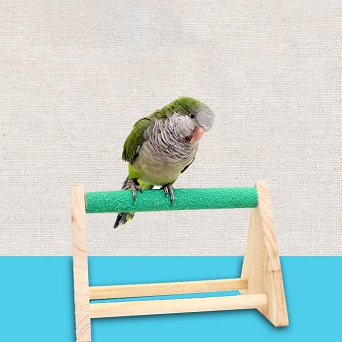 POPETPOP Chicken Swing Parrot Perch Natural Wooden Chicken Toy for Hens Handmade Bird Swing Bird Toy for Bird Parakeet Hens Macaw Trainning