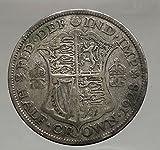1928 Great Britain United Kingdom UK King GEORGE V AR Half Crown Coin i56656