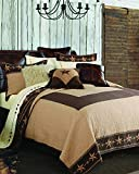 HiEnd Accents QW2010-TW-OC 2-PC Reversible Star Ranch Quilt Set, Twin