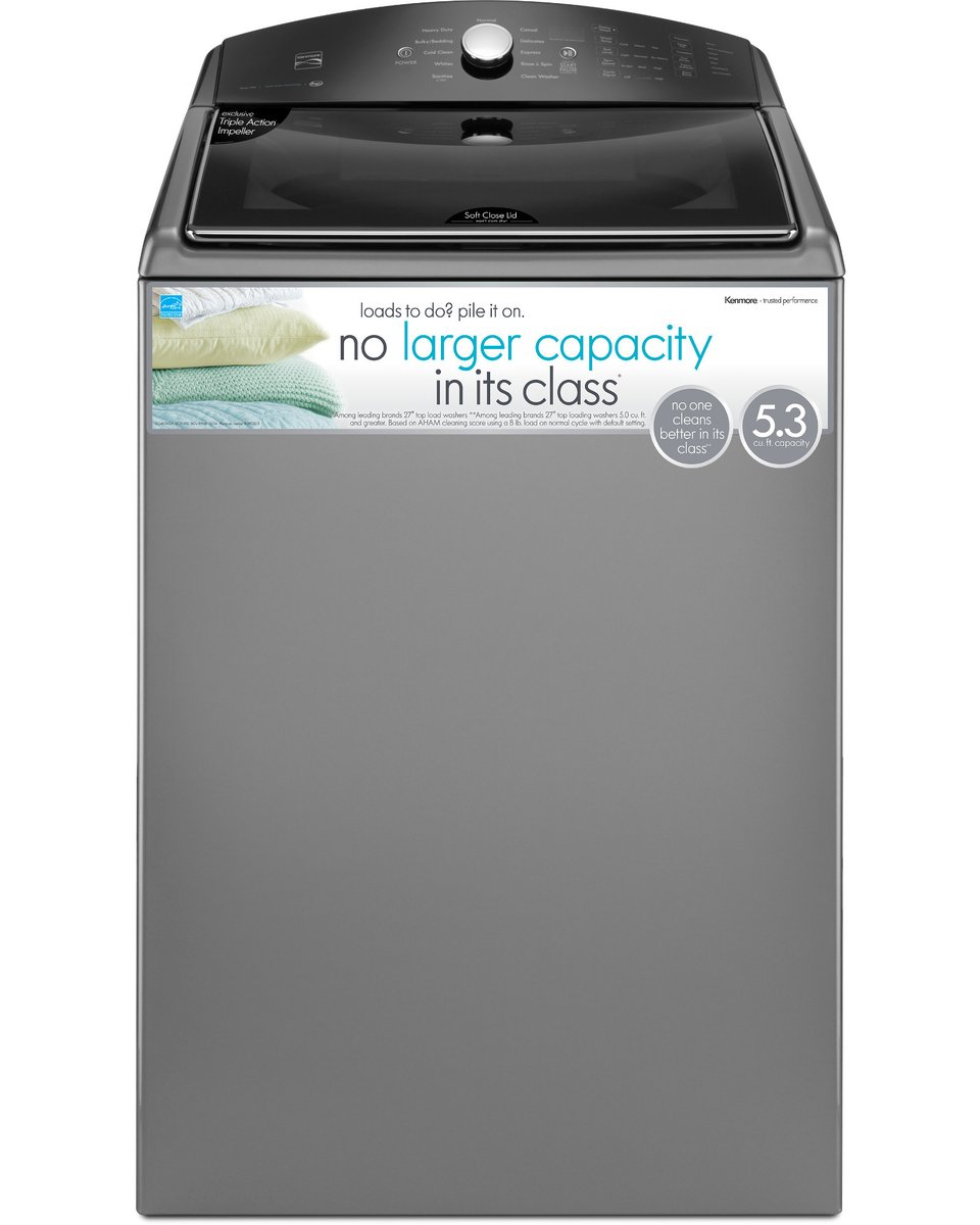 Kenmore 28133 5.3 cu ft. Top Load Washer in Metallic Silver, includes delivery and hookup (Available in Select Cities Only)