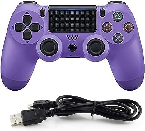 HALASHAO Controlador de PS4 Controller para Mando inalámbrico PS4 Controller Gamepad Joystick para Playstation 4,Púrpura: Amazon.es: Deportes y aire libre