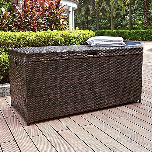 Palm Harbor Resin Wicker Outdoor Storage Bin by Improvements Palm Harbor