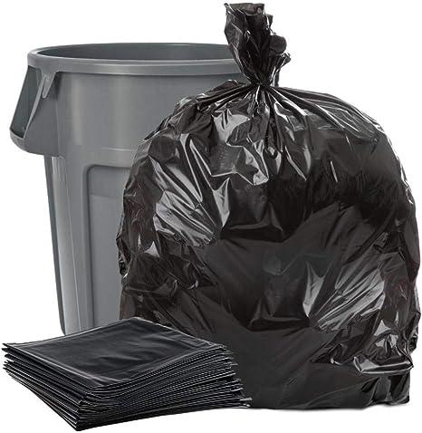 Commercial type black garbage bags bulk buy X  100