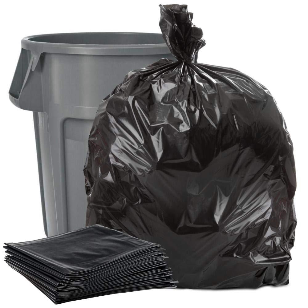 Plasticplace Black 40-45 Gallon Trash Bag, 40x46, 1.5 Mil, 100 Bags Per Case by Plasticplace