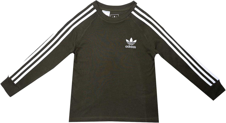 adidas Originals T Shirt California LS Kaki Garçon: Amazon