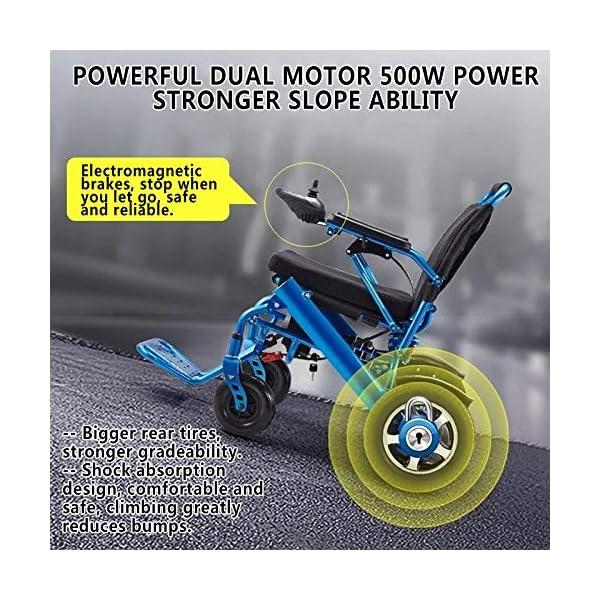 GFKSMS Leggero Portatile Sedia a rotelle Pieghevole Mobilità Electric Power per Vecchi Anziani disabili 3 spesavip