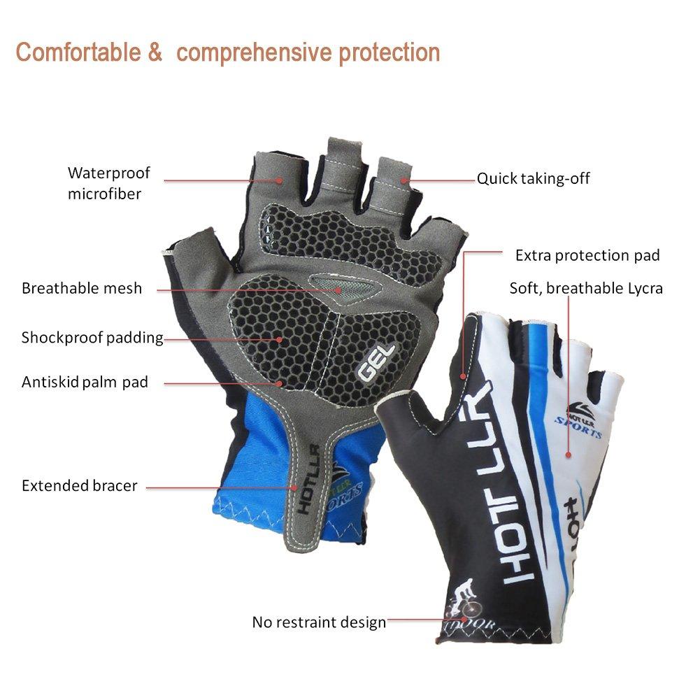 SMING Guantes de Ciclismo con almohadilla de gel a medio dedo absorbentes a impacto guantes para hombre/mujer: Amazon.es: Deportes y aire libre
