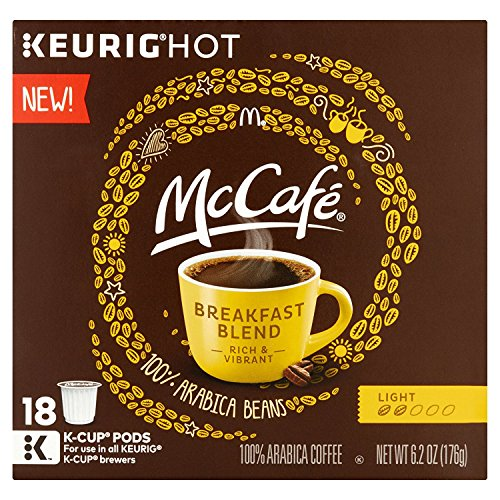 McCafe Breakfast Blend Coffee K-Cup Pods, 18 count, 6.2 OZ (176g)