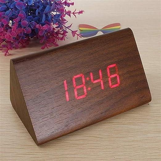 Wright Beard Alarma Digital Reloj de Mesa Triangular LED de Alarma ...
