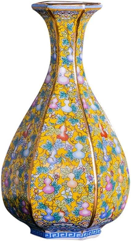 Vaso Vasi Ceramica Classico Creativo For Dry Flowers Decoration Art Home Domestica Soggiorno Camera Da Letto Office Desktop Giallo 13 X 27 5 Centimetri Vasi Moderni Decorativi Amazon It Casa E Cucina