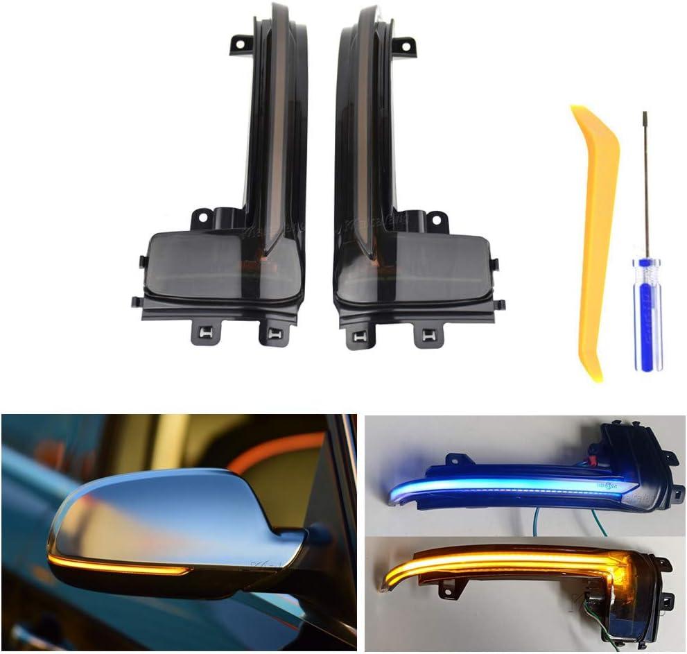 Indicateur de Miroir Dynamiques Jaune Bleu LED Clignotant pour A3 8P A4 A5 B8.5 Q3 A6 C6