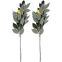 PRETYZOOM 2 peças de galhos artificiais de plantas artificiais falsos de limão, mola, frutas, vegetais, ornamento para…