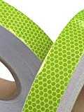 High Intensity Grade Lime Reflective Tape 25mm x 2.5m