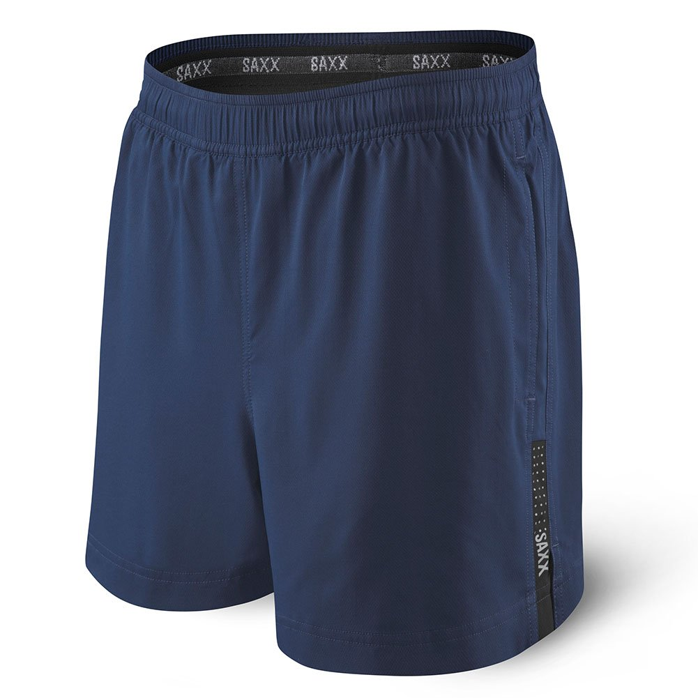 Saxx Underwear Men's Kinetic 2N1 5 Athletic Run Shorts with Ballpark Pouch SXRS27