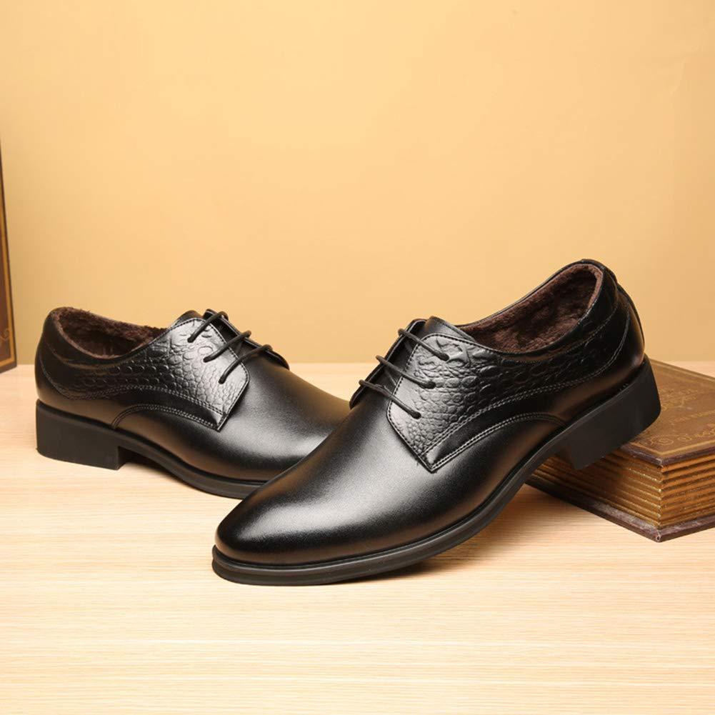 Leder Herrenschuhe Business Kleid Schuhe Mit Casual Bequeme Kleid Klassische Schuhe Wasserabweisend Rutschfest Kleid Bequeme Für Männer schwarz a3dd75
