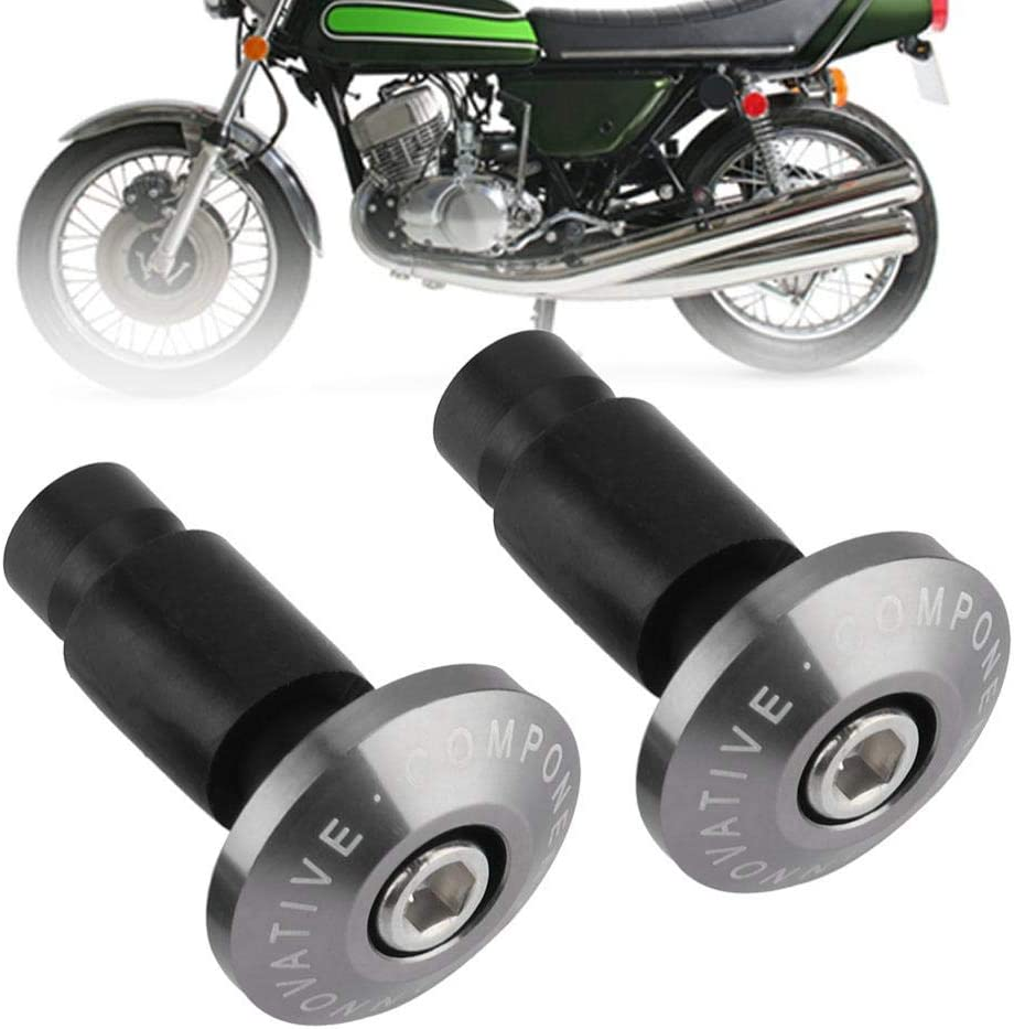 22mm 7//8 pulgadas Universal Moto Manillar Fin Slider Plug Cap Motocicleta ATV Sports Car Manillar Azul