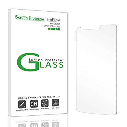 lg g3 screen protector glass amfilm tempered glass screen protector for lg g3 with lifetime amazoncom tempered glass